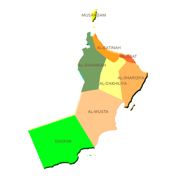 Oman Guide Map