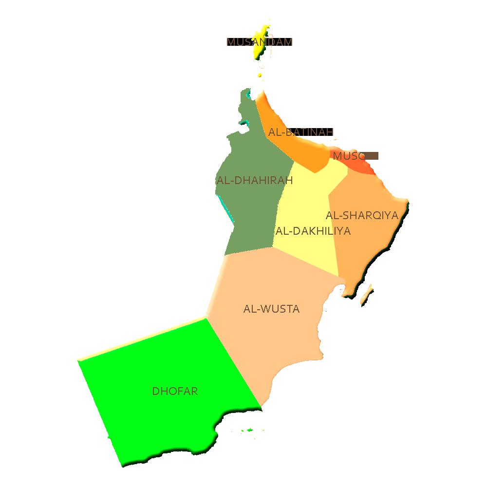 Oman Guide Map Oman Mappery - Oman map