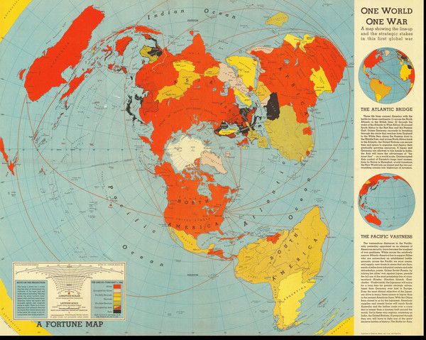 A map showing the lineup and strategic stakes in World War 2 as of Feb 1,