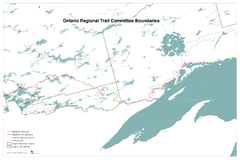 Ontario Regional Trail Committee Boundaries Map
