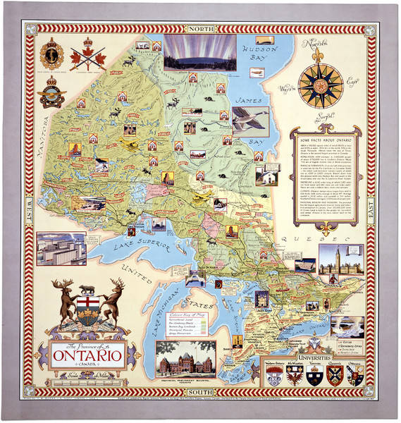 Ontario Tourist Map