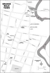 Orange Walk Town Map