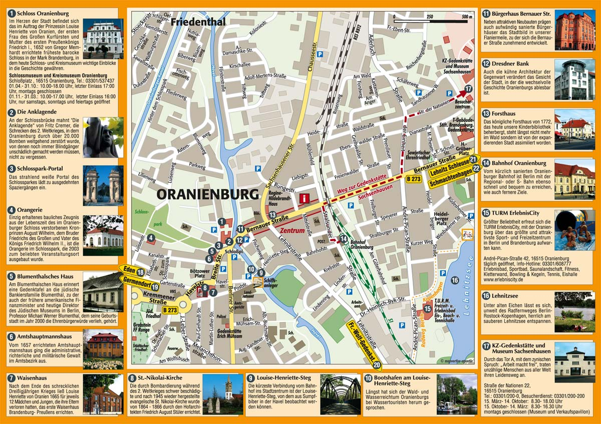 Oranienburg Tourist Map Oranienburg Germany mappery – Tourist Map of Berlin