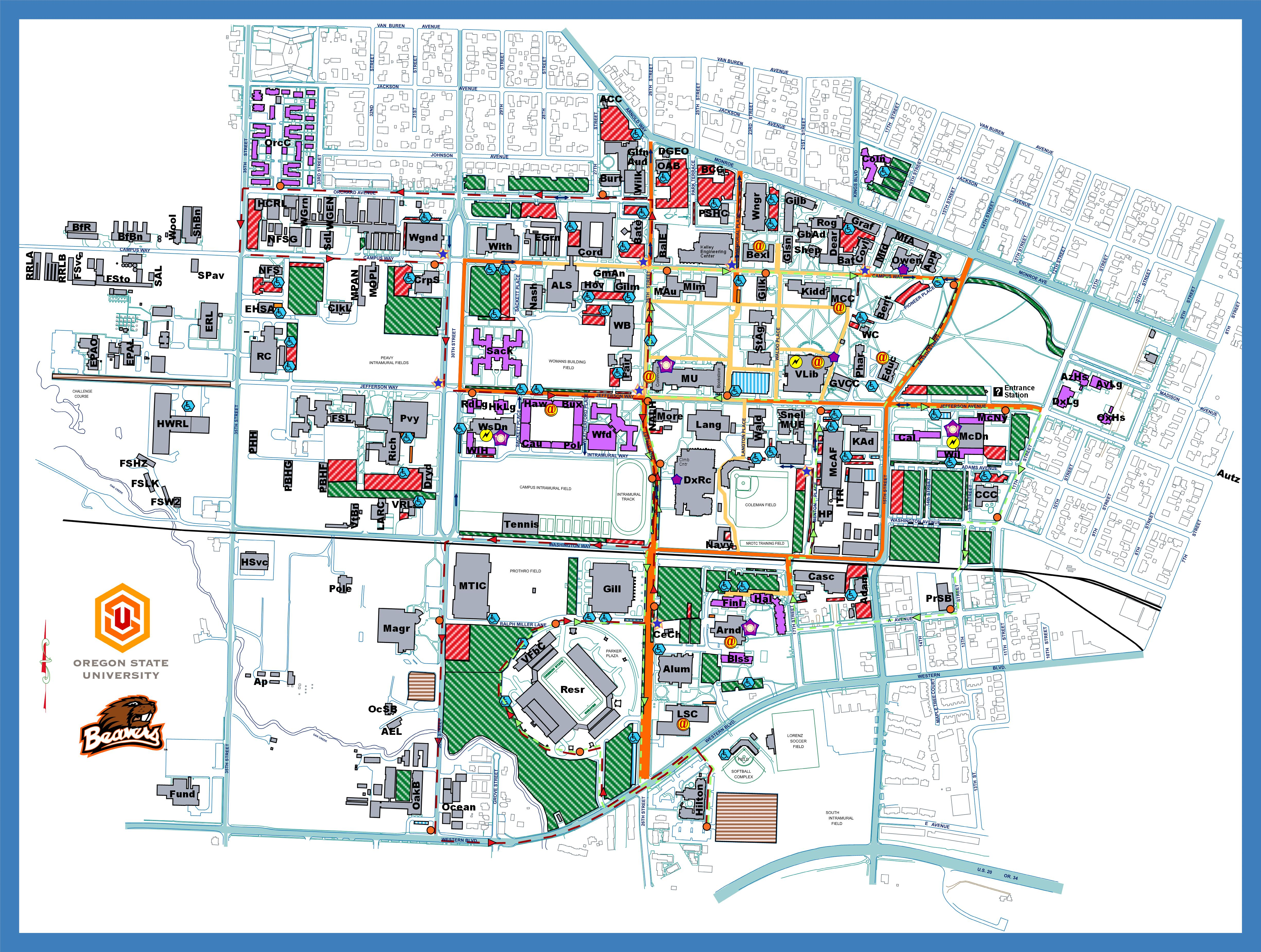 Oregon State University Campus Map Corvallis OR 97331 mappery