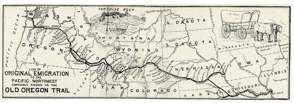 Oregon Trail Historical Map
