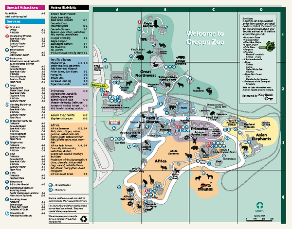 Oregon Zoo Map 2009 Oregon Zoo Portland Oregon mappery – Oregon Tourist Map