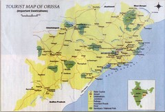 Orissa Tourist Map