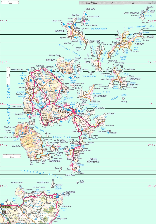 orkney map orkney uk u2022 mappery