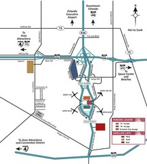 Orlando Airport Area Map