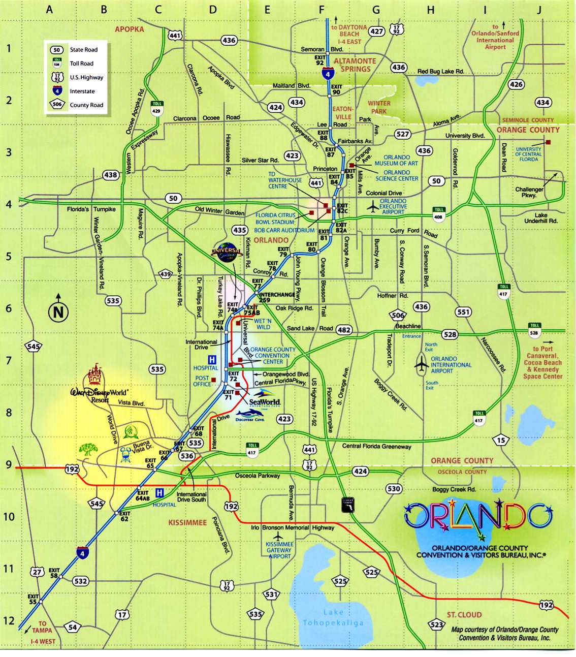Orlando Metro Map.Orlando Maps City Maps