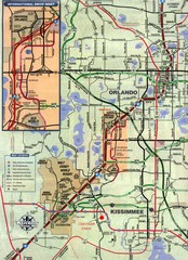 Orlando and Kissimmee Florida Map