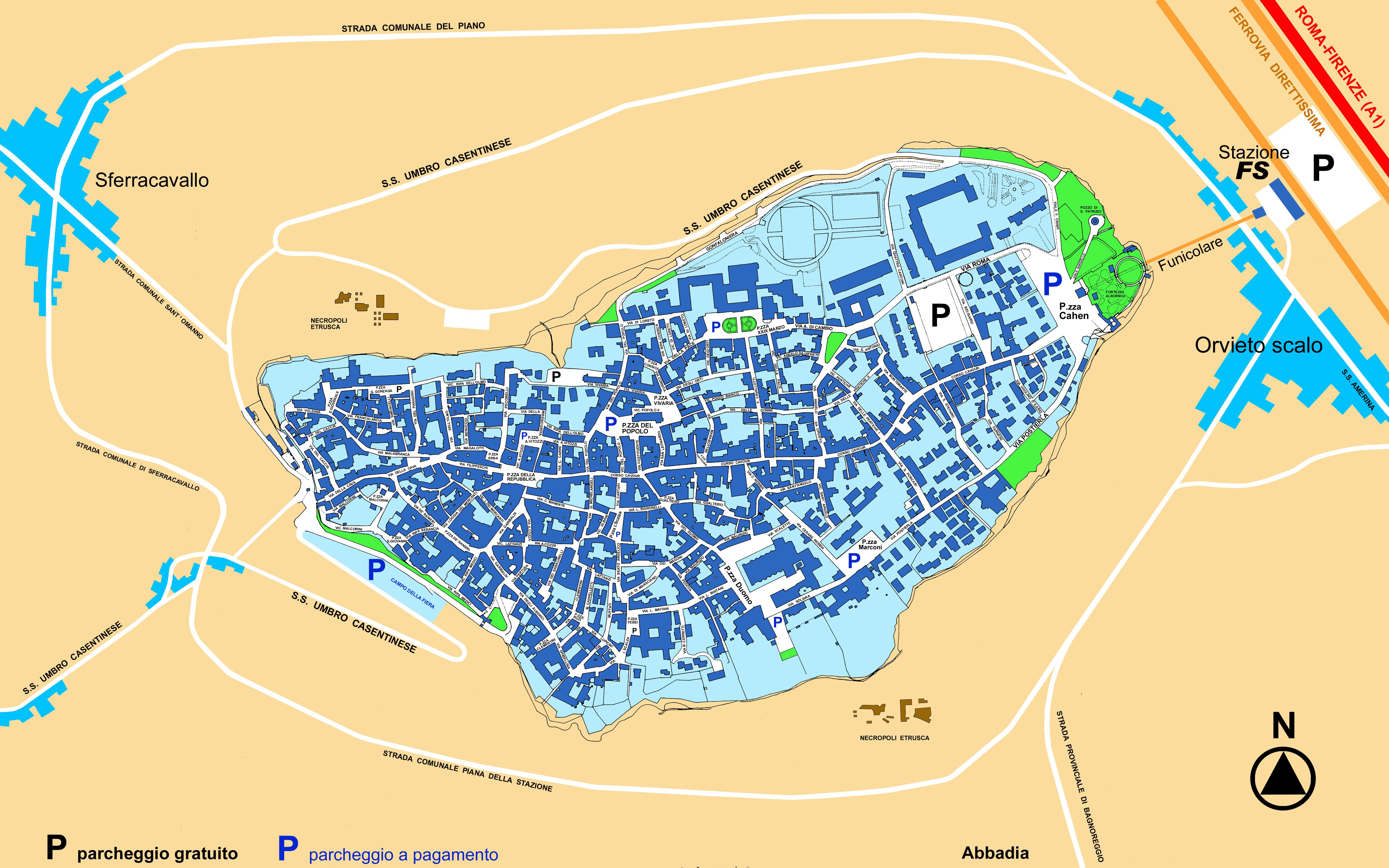 Orvieto City Map Orvieto Italy Mappery