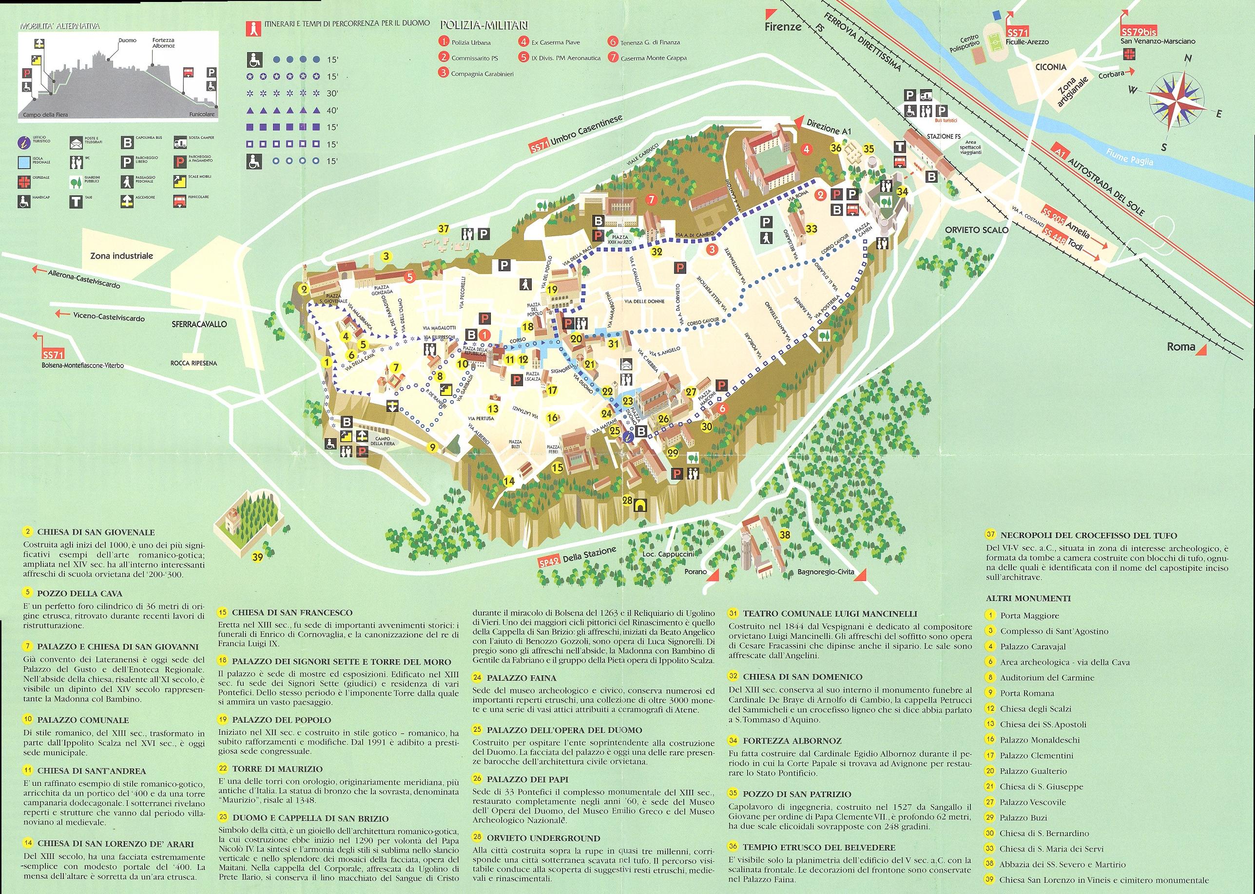Orvieto Map Orvieto It Mappery