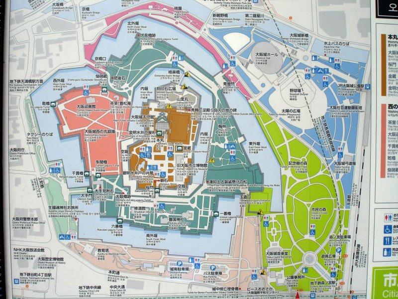 Osaka Castle Park Tourist Map Osaka Castle mappery