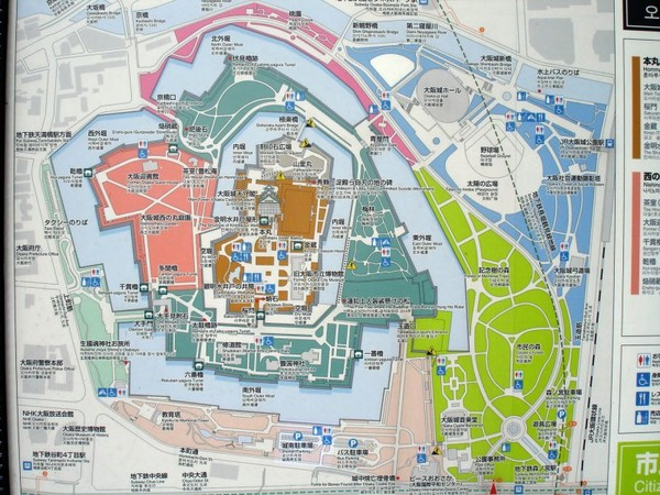 Osaka Castle Park Tourist Map