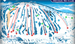 Oshawa Ski Club Ski Trail Map