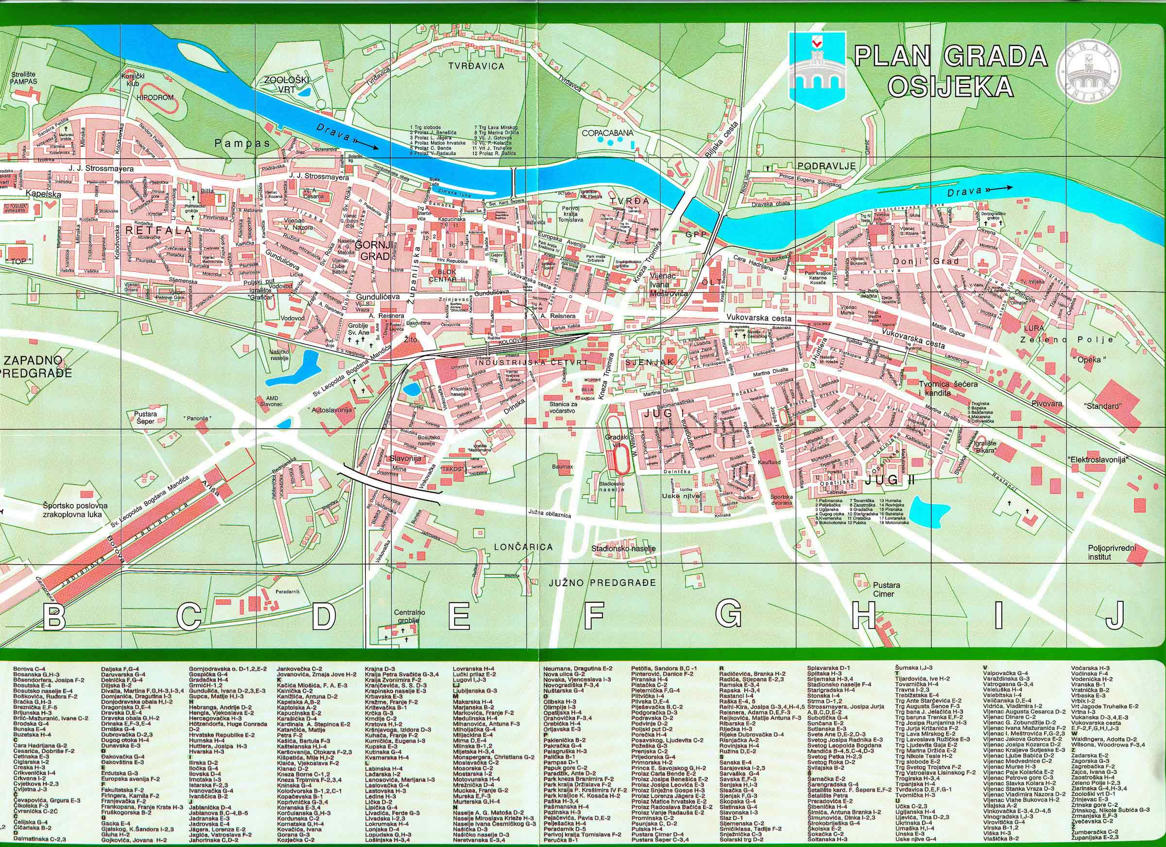 Osijek City Map Osijek Croatia Mappery - Croatia interactive map
