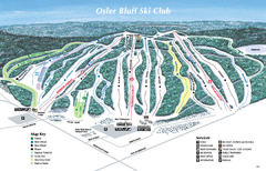 Osler Bluff Ski Club Ski Trail Map
