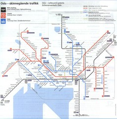 Oslo, Norway Public Transportation Map