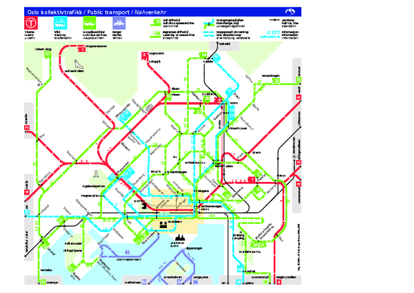 Oslo Public Transport Map Oslo Norway Mappery - Norway map download pdf