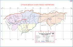 Otdar Mean Chey Province Cambodia Road Map