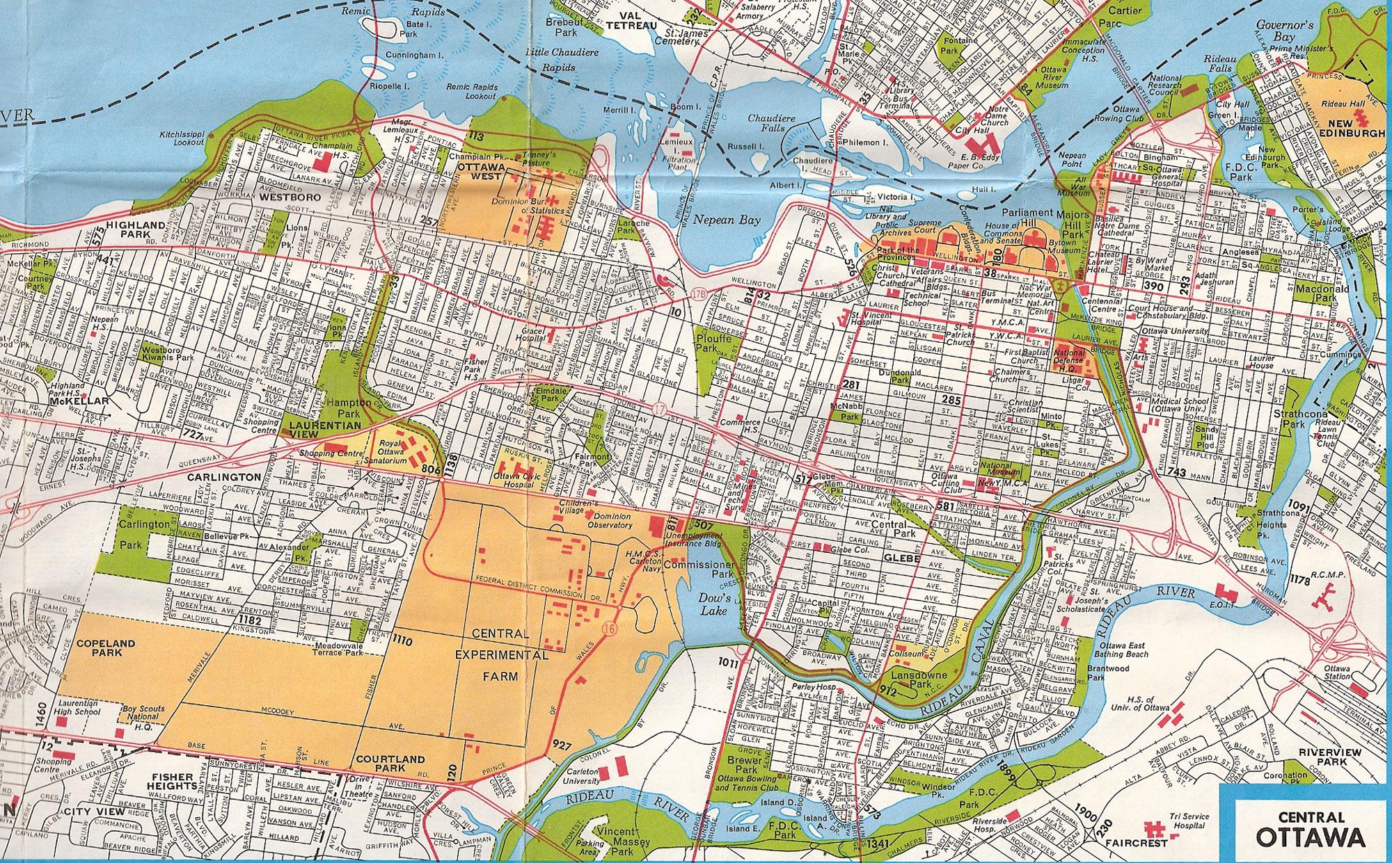Ottawa Ontario Tourist Map Ottawa  E2 80 A2 Mappery
