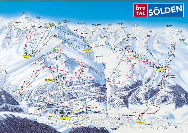 Otztal Ski Trail Map