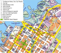 Oulu Tourist Map