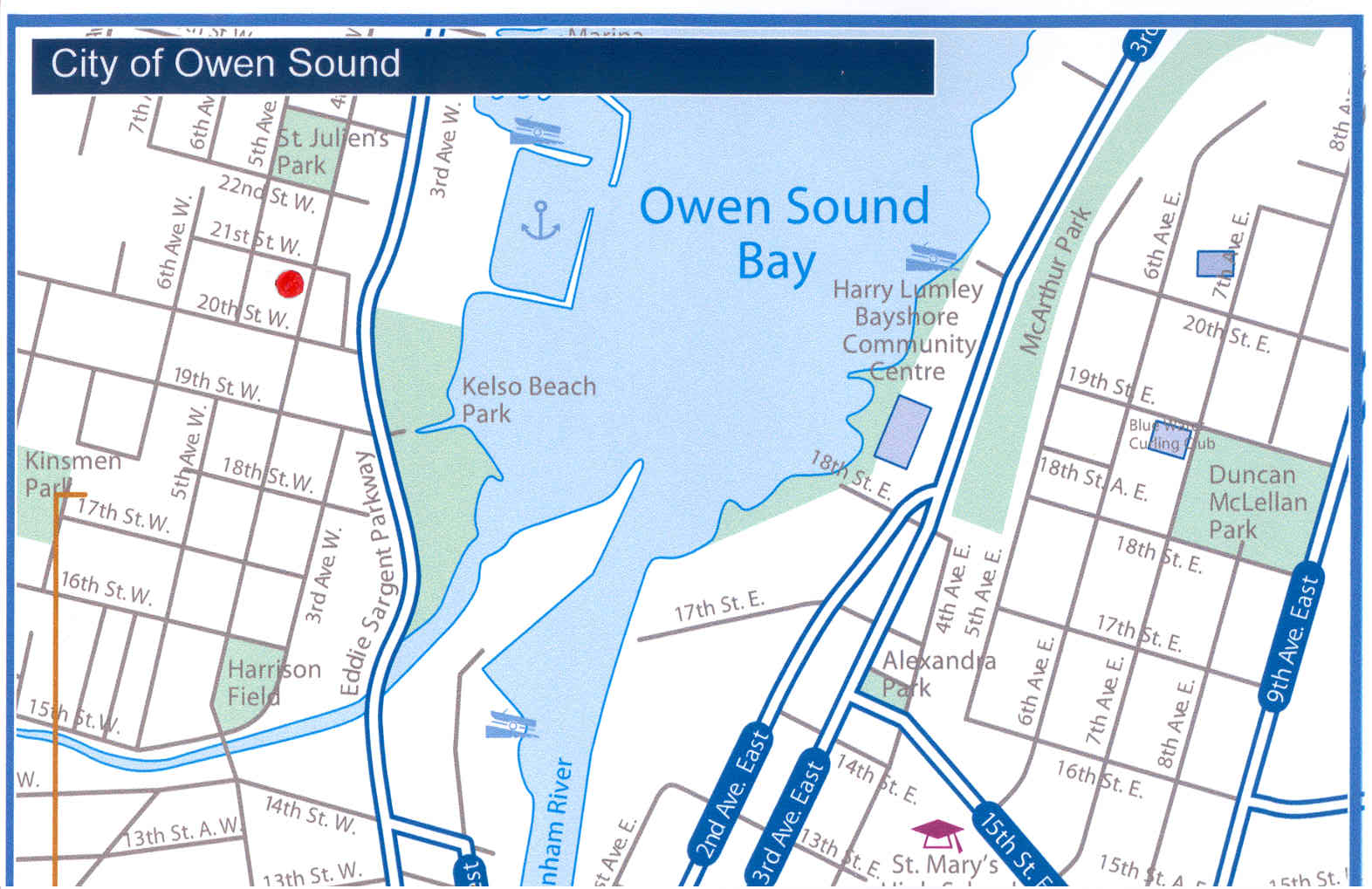 Owen Sound Map Owen Sound Ontario Canada mappery