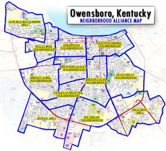 Owensboro, Kentucky City Map