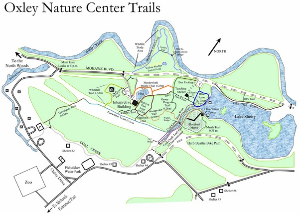 Oxley Nature Center Map