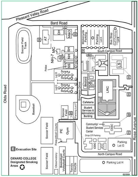 Oxnard College Map Oxnard Ca mappery