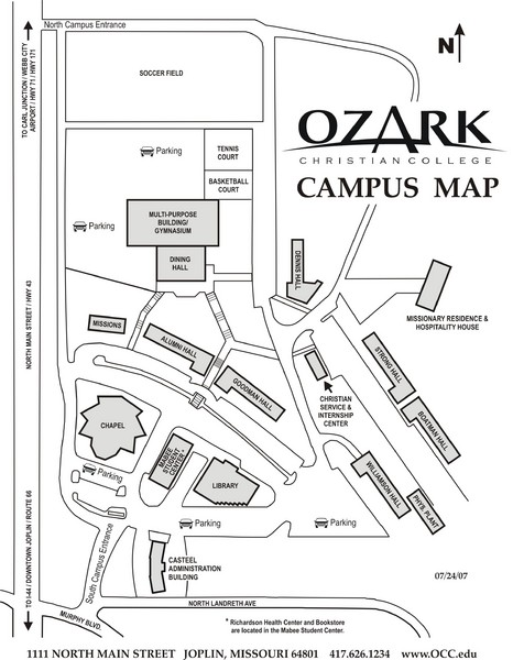 Ozark Christian College Map