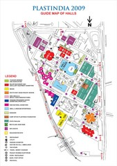 PLASTINDIA Exhibition Guide Map