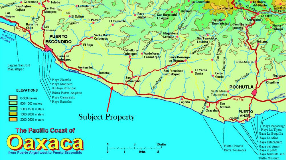 Puerto Escondido Mexico Tourist Map \u2022 Mappery: Mexico Tourist Map At Infoasik.co