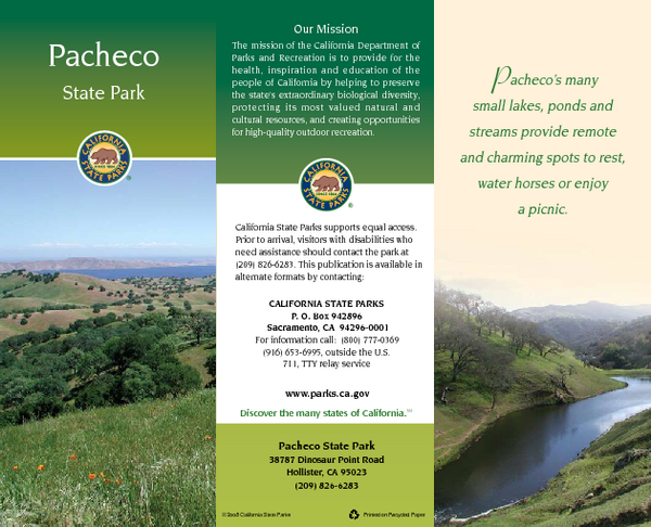 Pacheco California Map.Pacheco State Park Map 38787 Dinosaur Point Rd Hollister Ca Mappery