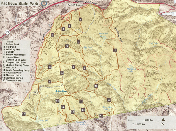 Pacheco State Park Trail Map