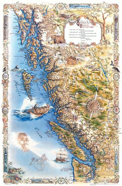 Pacific Northwest Inside Passage Map