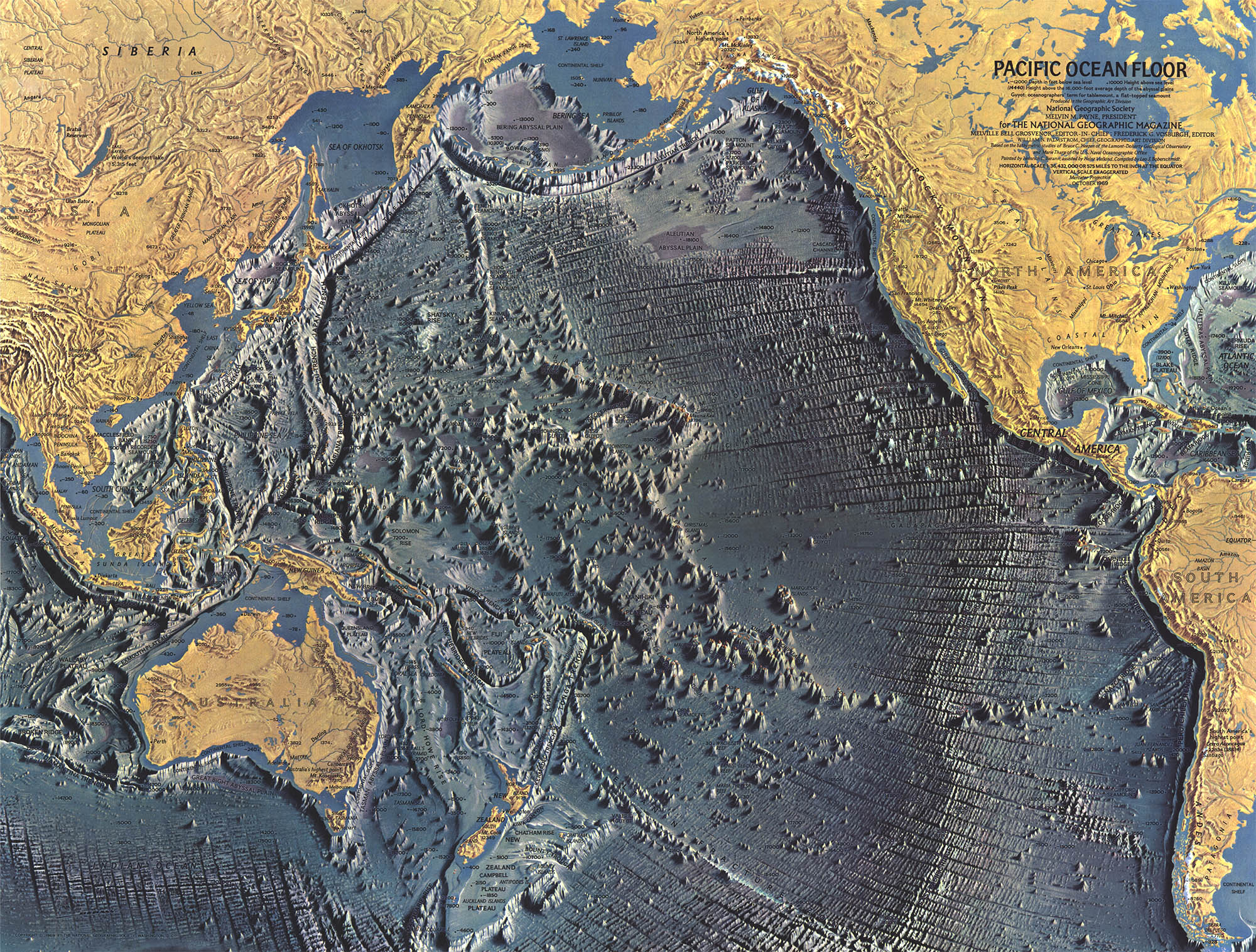 Ocean Floor Elevation Map : Geogarage book pacific the ocean of future by