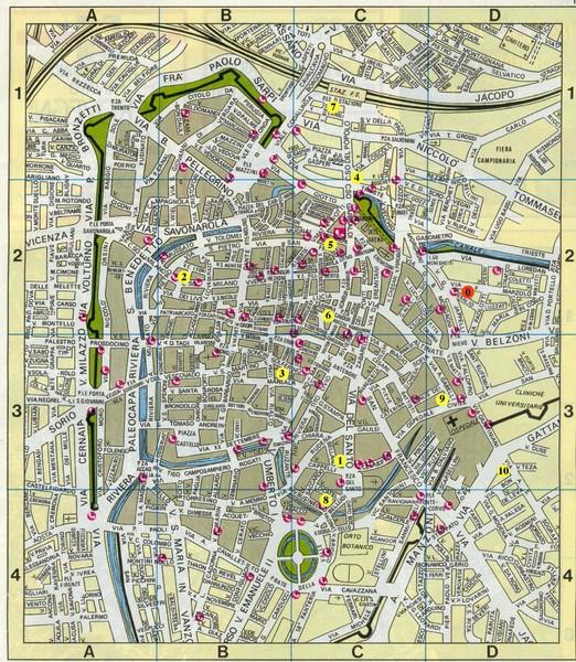 Padova Street Map Padova Italy Mappery