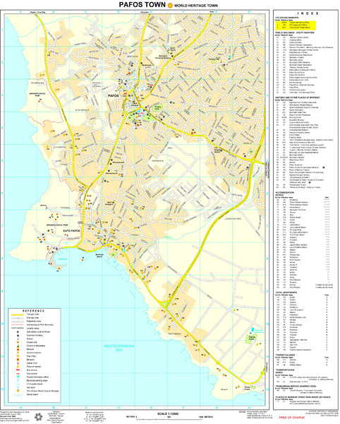 Pafos Tourist Map