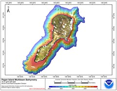 Pagan island bathymetric Map