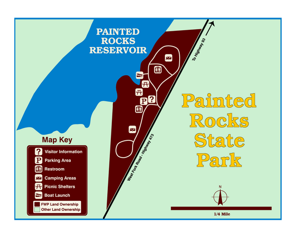 Painted Rocks State Park Map