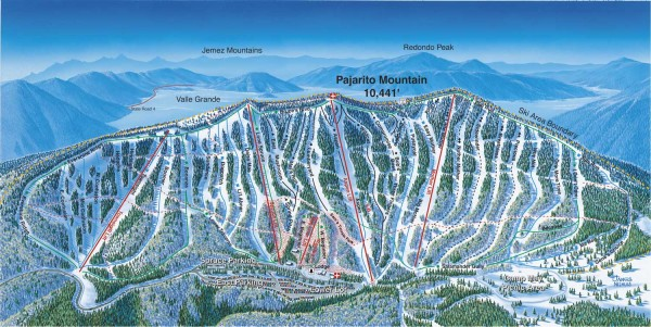 Pajarito Ski Trail Map