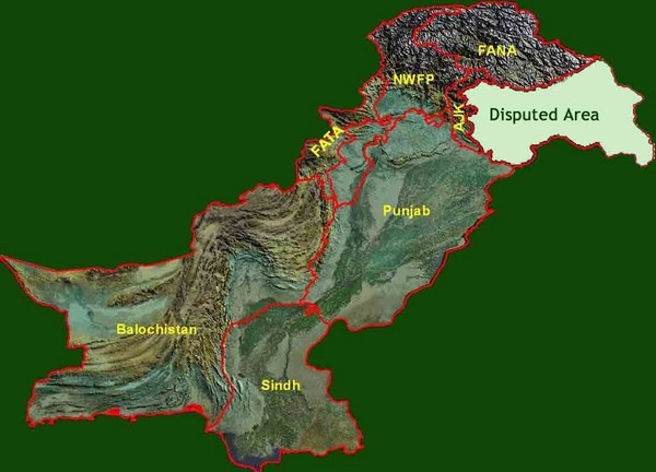 Pakistan Relief Map