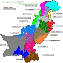 Pakistan  new provinces map