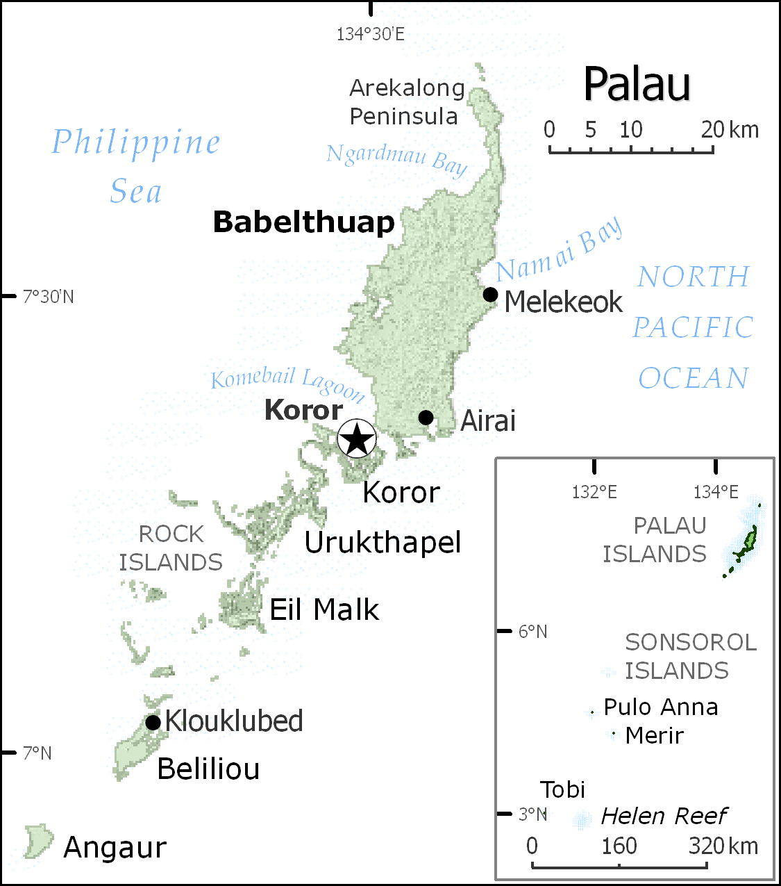 Popular 236 List Palau Map