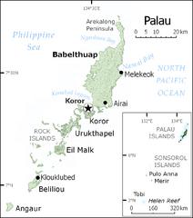 Palau Koror Island Map Palau Mappery - Palau map