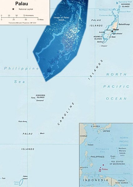 Palau Political Map