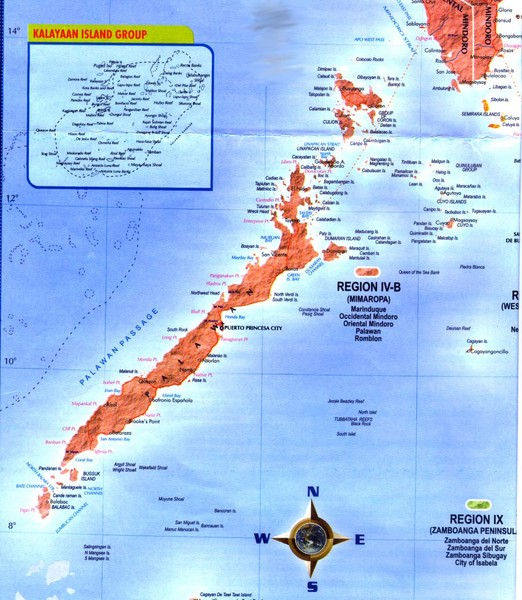 Aborlan Philippines  city pictures gallery : Palawan Islands Map Palawan • mappery